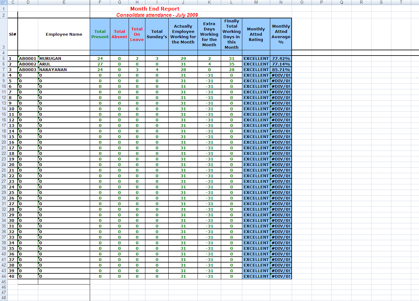 Contract Tracking Spreadsheet