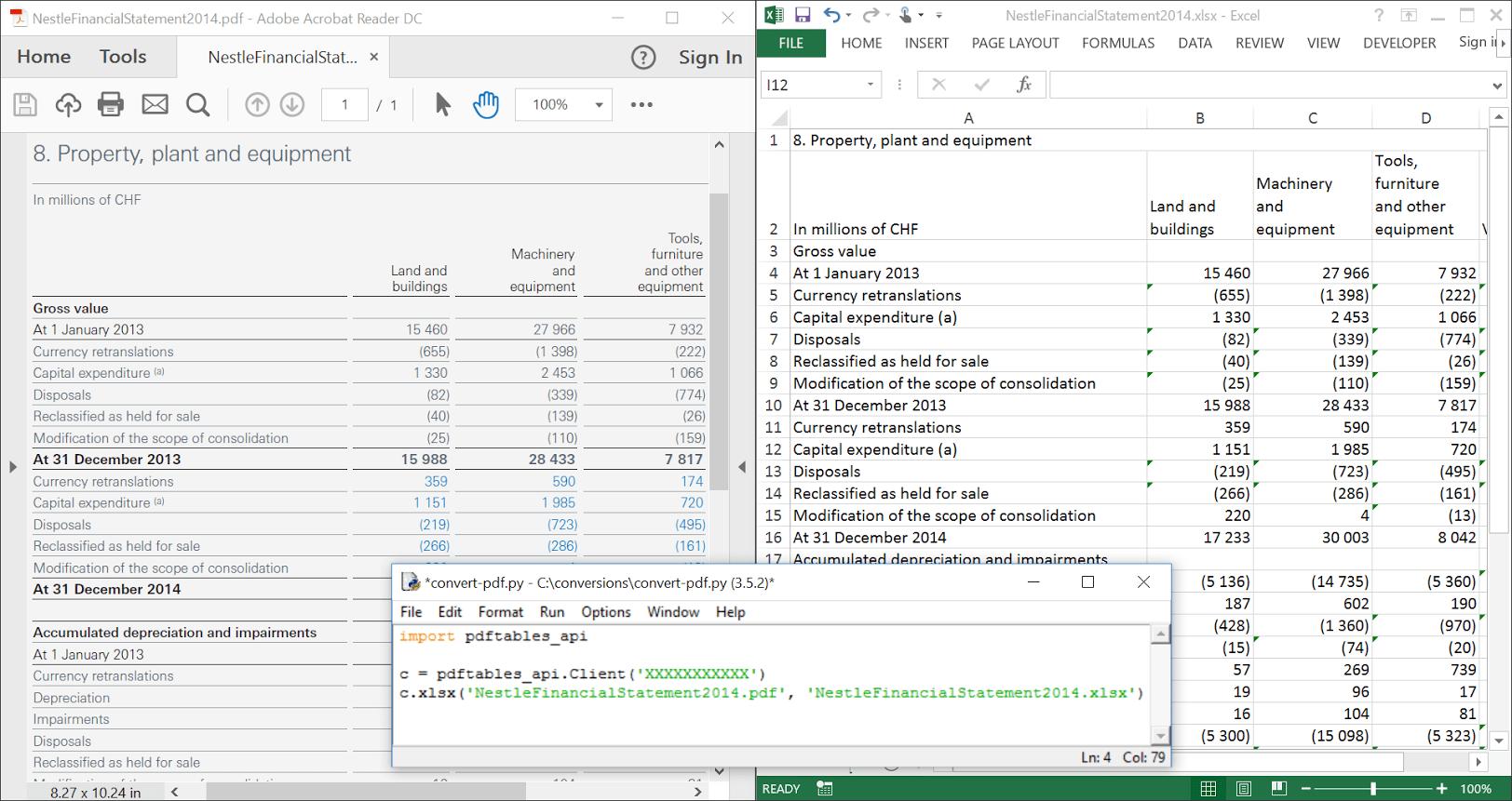 Convert Spreadsheet To
