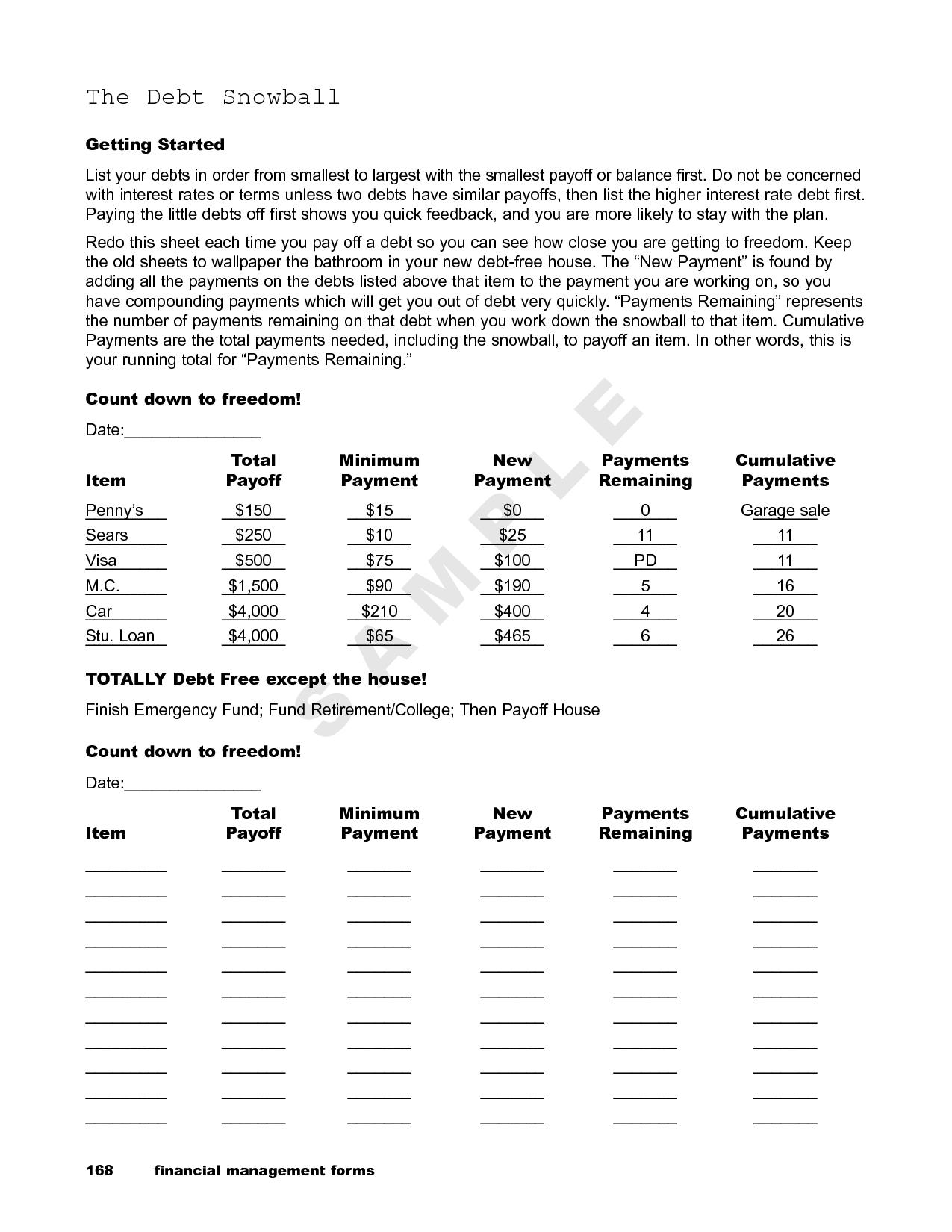 Dave Ramsey Debt Snowball Spreadsheet