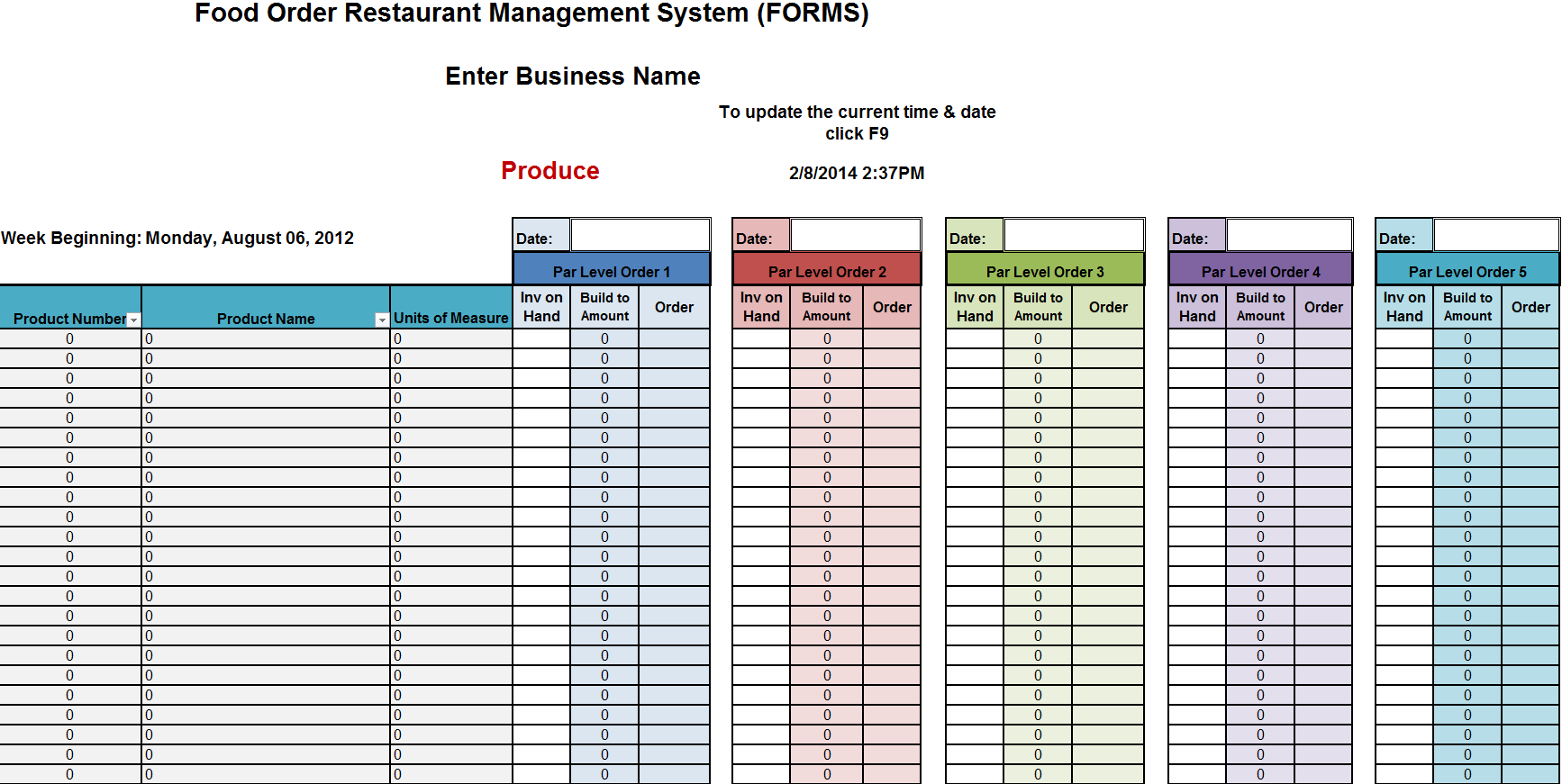 Excel Spreadsheet For Inventory Management