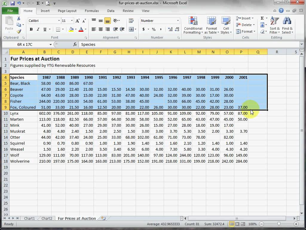Excel Spreadsheet For Practice