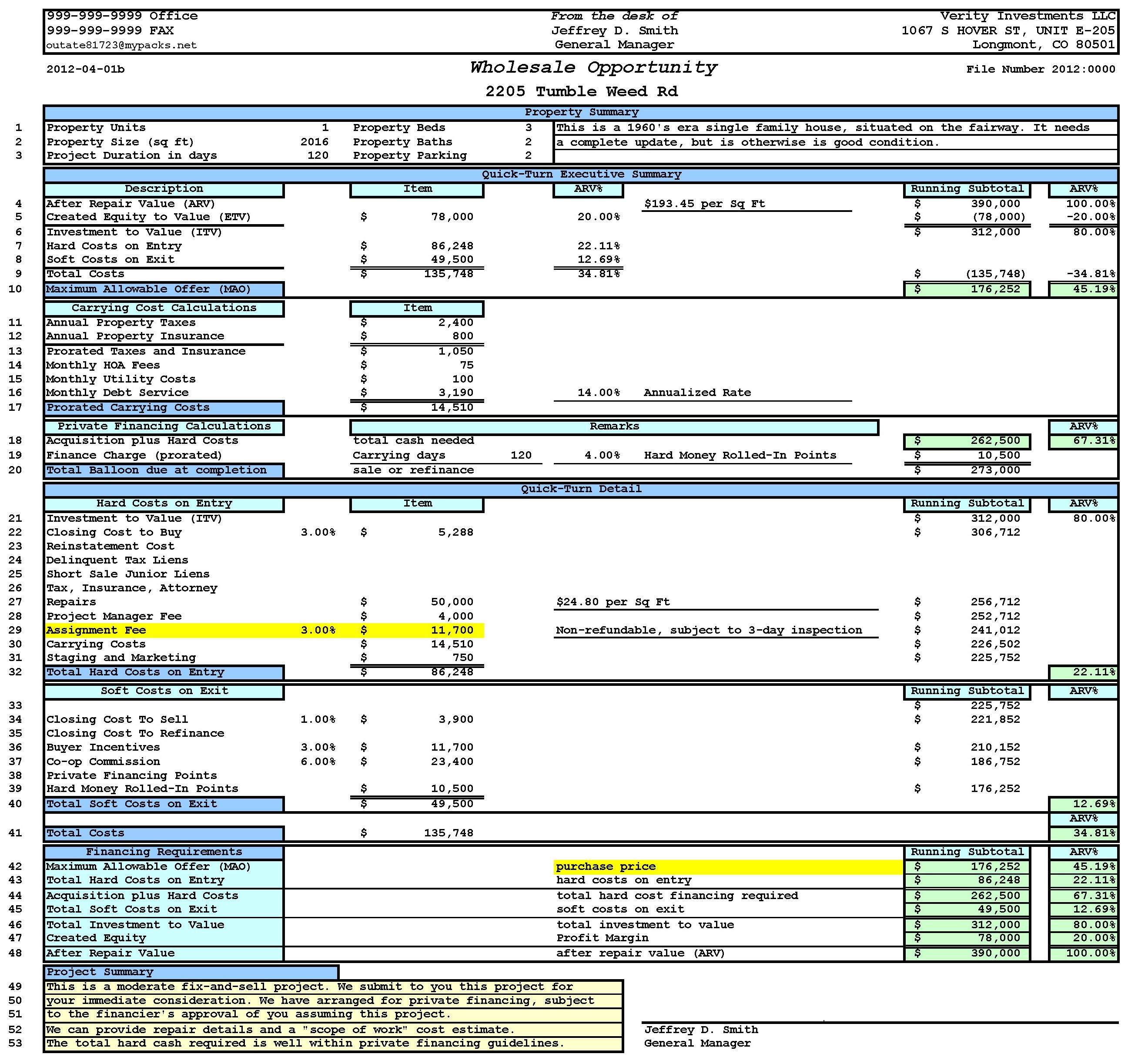 Financial Statementysis Spreadsheet