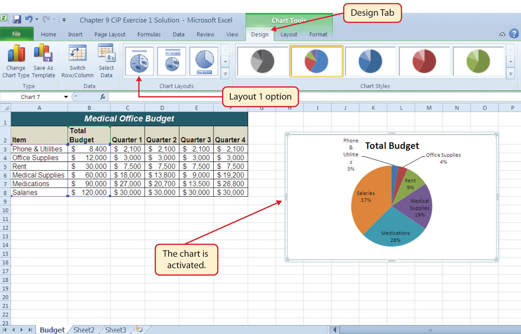 Microsoft Excel Exercises With Solutions