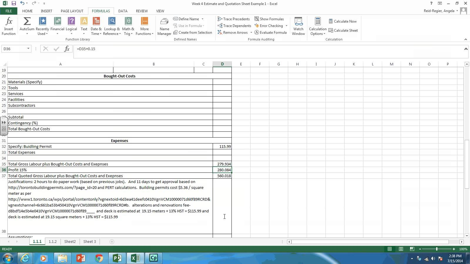 Templates Quotation Format In Excel Free Download