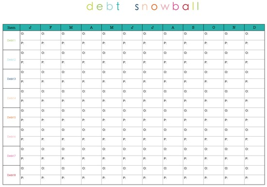 Dave Ramsey Debt Reduction Worksheet