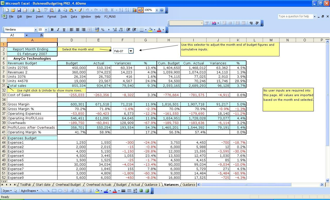 Yearly Expenses Worksheet