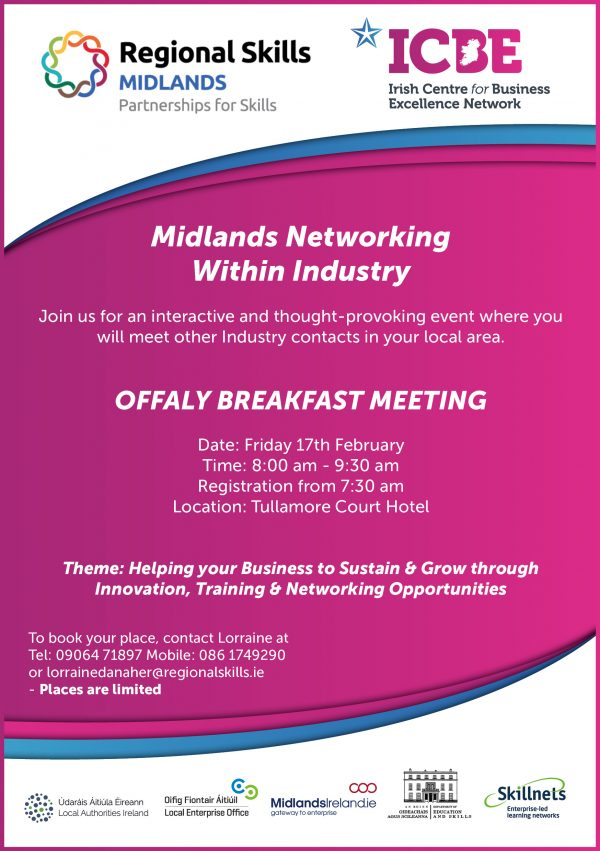 Midlands Networking within Industry - Laois and Offaly Breakfast Meetings