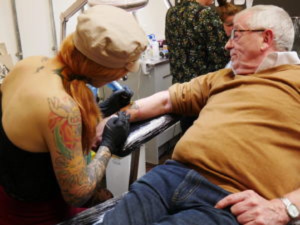 ALONE Bucket Listers Get Inked To Fight Ageism