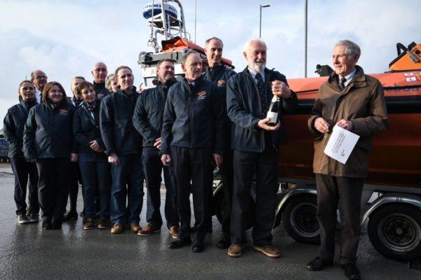 Lough Derg RNLI takes receipt of a new lifeboat, an Atlantic 85 B911 'Jean Spier'