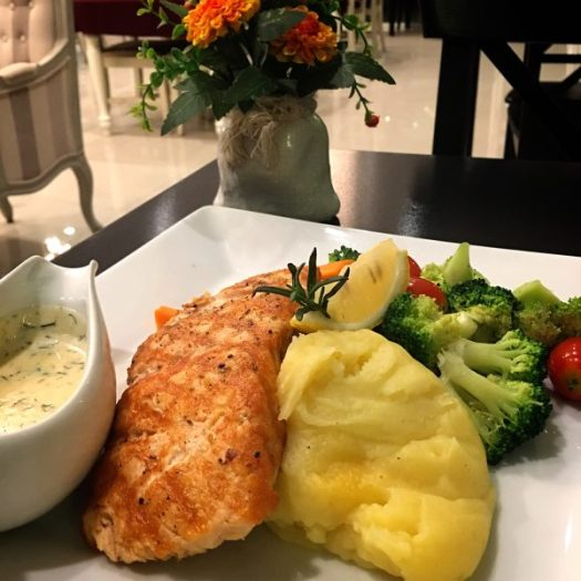 Grilled Salmon Trout Steak