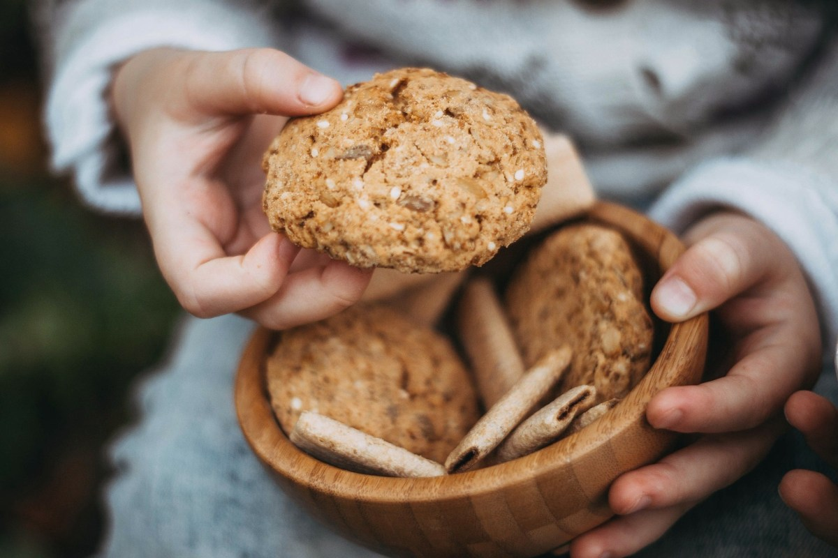 Oatmeal and coconut cookies.