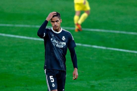 Raphael Varane durante el partido ante el Villarreal.