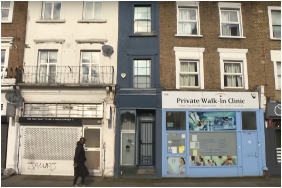 Would you like to live in the narrowest house in London?  It is for sale and can be yours at this price