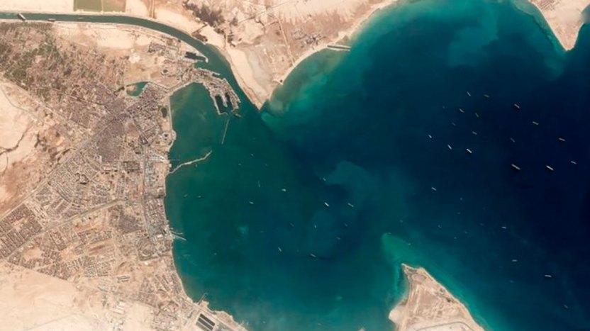 117727493 mediaitem117727492 1 - Canal de Suez: las impresionantes imágenes satelitales del impacto del bloqueo causado por el Ever Given