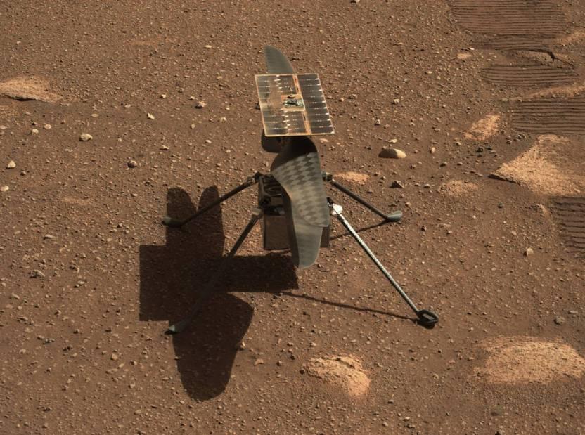 1 pia24547 mastcam z gives ingenuity a close up NASA - La NASA invita al público a volar por Marte con el helicóptero Ingenuity
