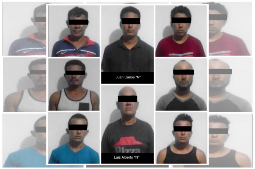 Caen 7 hondureños y un mexicano del CJNG atacaron con cuchillos a policías que los detuvieron - Caen 7 hondureños y un mexicano del CJNG; atacaron con cuchillos a policías que los detuvieron