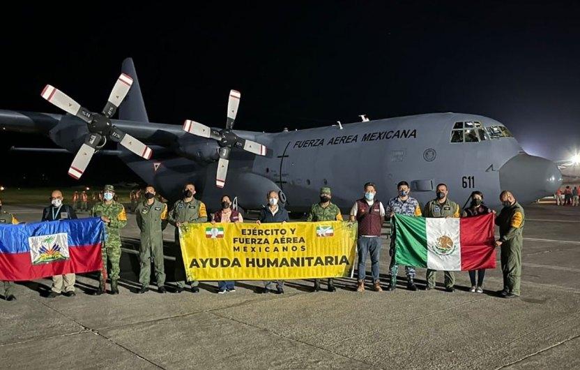E86BLPeWQAEfcHg - México envía aviones a Haití cargados de ayuda humanitaria tras terremoto de 7.2 grados