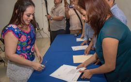Perla, por la reelección; Mayuli, al Senado