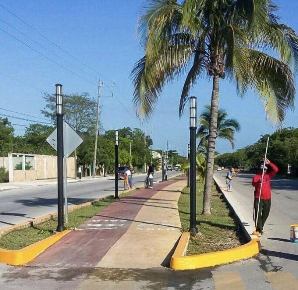 Mejora Solidaridad más de 30 km de guarniciones en abril