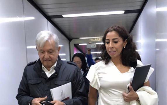 Marybel se muestra con AMLO luego de su ataque al gobernador