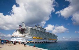 Arriba a Cozumel el crucero más grande del mundo de Royal Caribbean