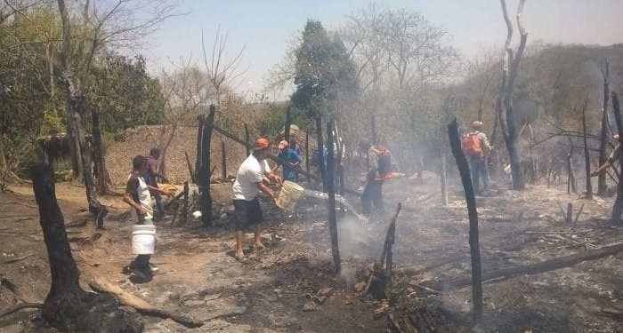 Incendio en la Huasteca