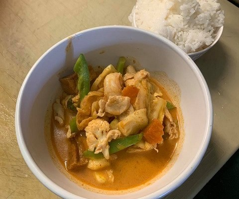 Nothing Says American Football Sunday like Red Curry