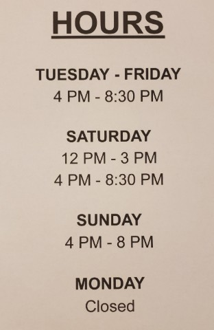 Updated Hours During Shelter in Place/Lockdown