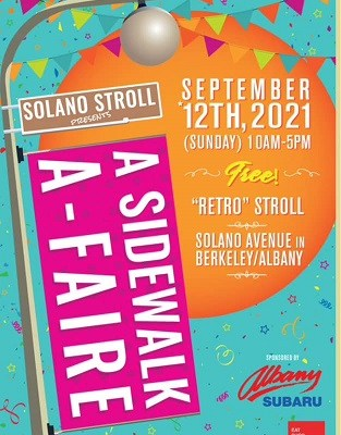 Solano Stroll a Sidewalk a-Faire on September 12 from 10:30 AM to 5 PM