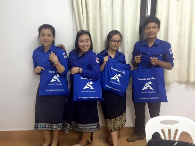 Lao-Top College bag, ກະເປົາວິທະຍາໄລ ລາວ-ທ໊ອບ