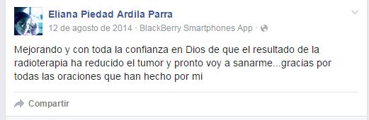 Facebook de Eliana