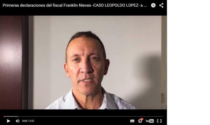 El exfiscal Franklin López salió para Miami y contó verdades sobre el proceso de Leopoldo López
