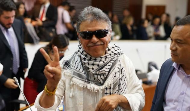 Santrich en el Congreso colombiano