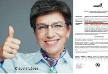 Claudia Lopez contrato publicidad
