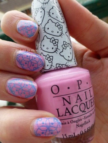 opi hello kitty - stamping - laoujereve02