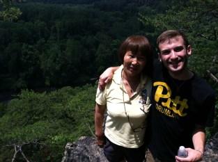 干妈 and Nick on our mountain hike