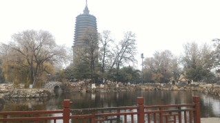 Buddhist tower.. I wanted to get closer but of course I was at the whim of the teachers