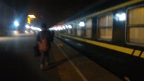 Anshan train boarding