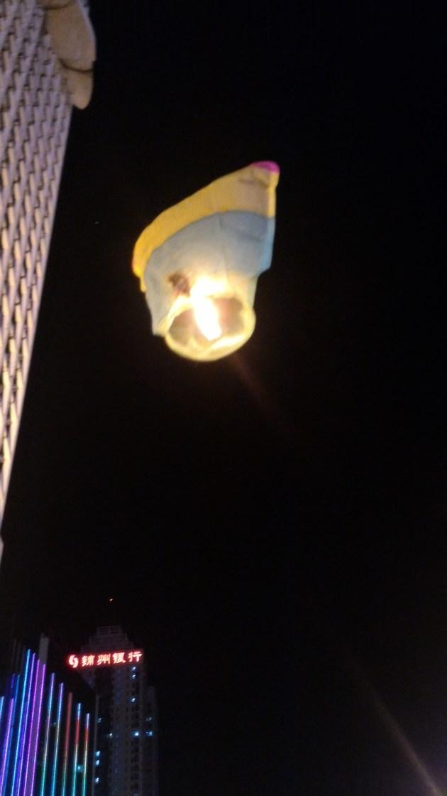 It finally got liftoff, despite the hole