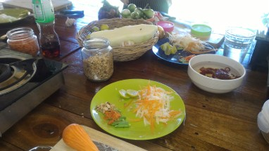 prepwork for papaya salad