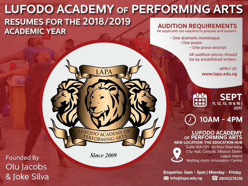 Accredited Acting School in Lagos, Nigeria