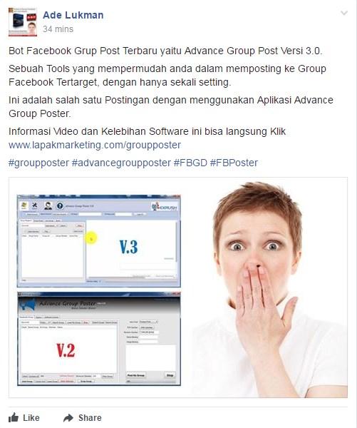 download auto post grup facebook