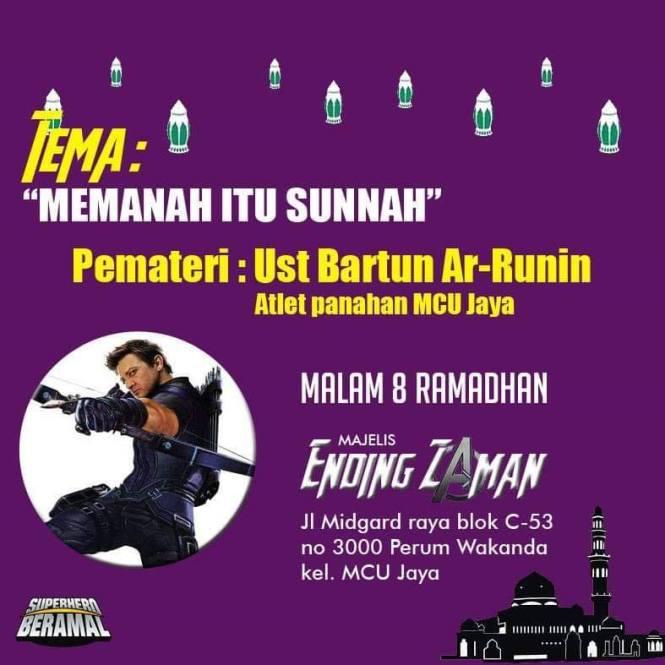 Memanah itu Sunnah, Pematerinya USt bartun Ar-Runin, atlet panahan MCU Jaya.