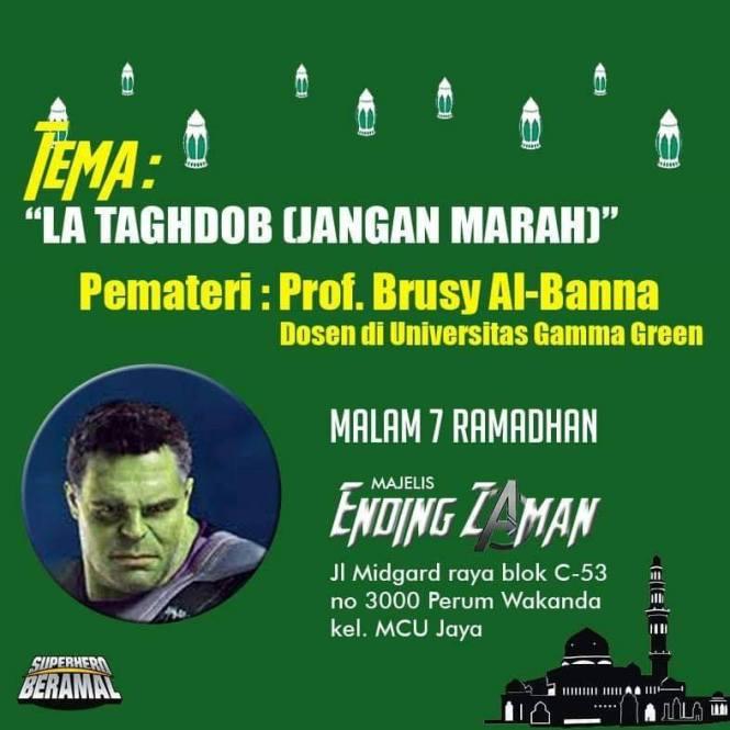 La Taghdob (Jangan marah), Pematerinya Prof. Brusy Al-Banna, dosen di Universitas Gamma Green.