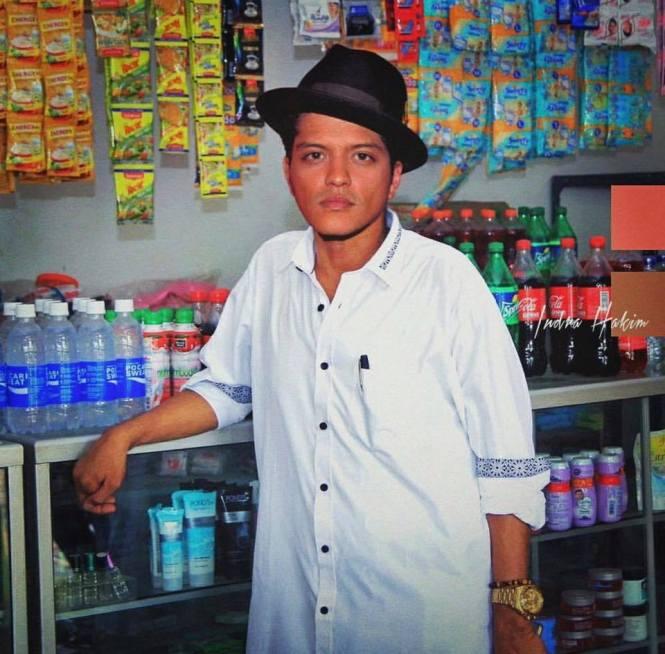 Bruno Mars setelah melakukan konser di Jawa,namanya berubah jadi Mas Bruno