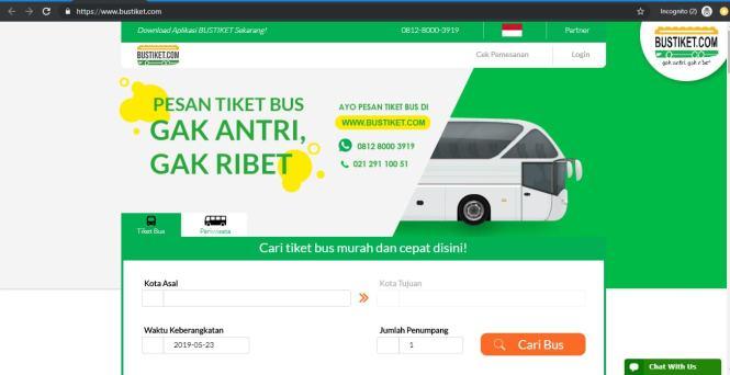 Cara Beli Tiket Bus Online Di Bustiket.