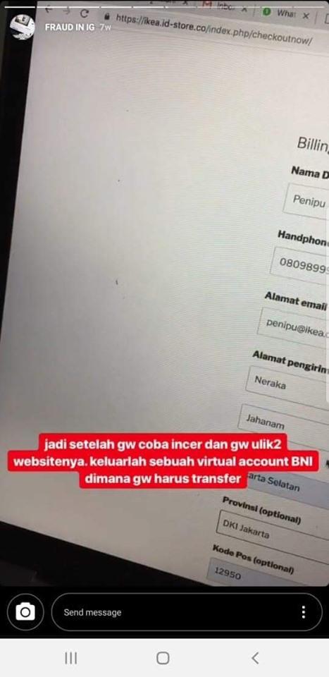 Hati-Hati Penipuan Website IKEA Abal Abal!