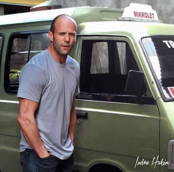 Katanya nyetir di The Transporter kurang greget, akhirnya Jason Statham milih nyetir angkot saja!