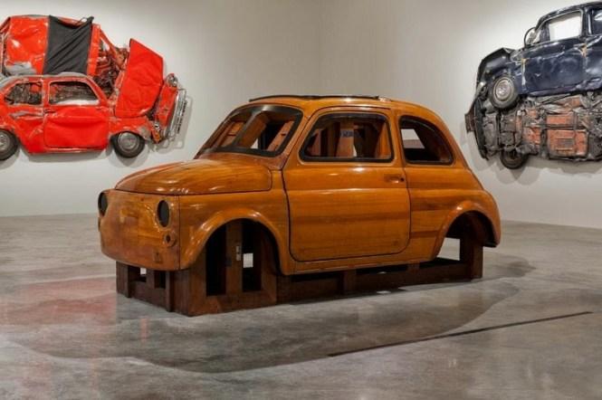 Seni keren dari mobil yang di press!