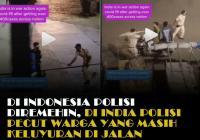 Pake Pecut! Cara Polisi India Maksa Warganya #DiRumahAja Nih! Indonesia Mau Kayak Gini Juga?